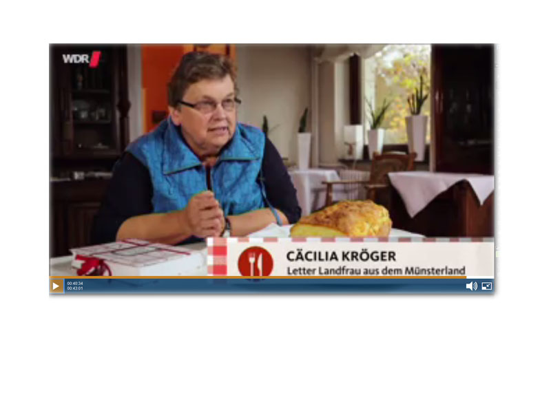 Letter Landfrau im WDR